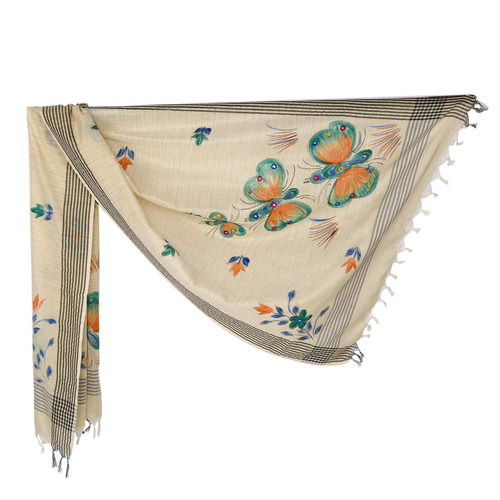 Brush Print Silk Dupatta 13