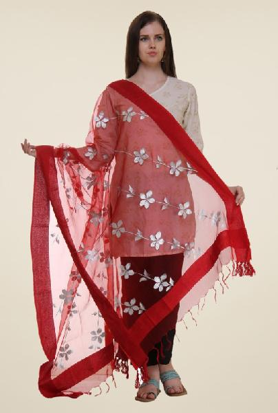 Embroidered polyester dupatta 02