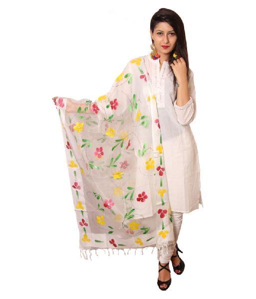 Floral Silk Dupatta 05