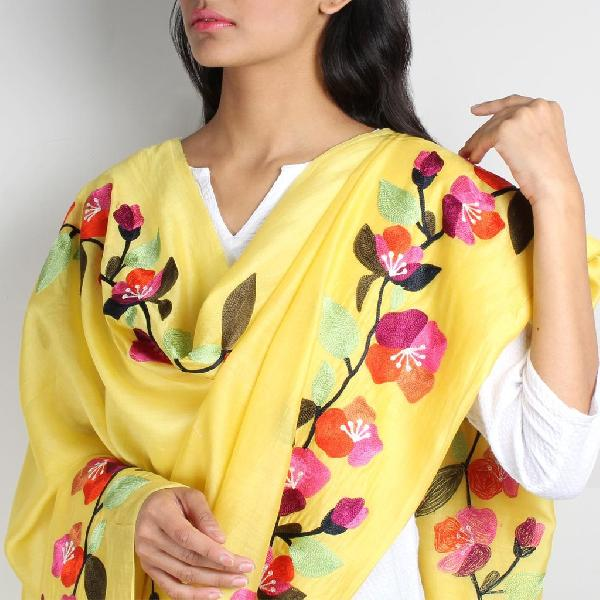 Floral Silk Dupatta 10