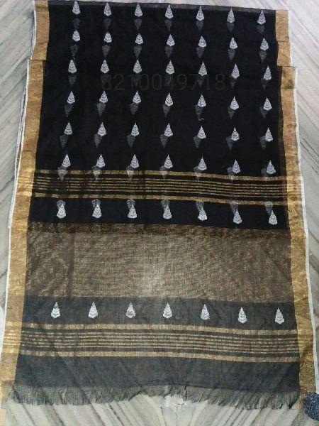 Jamdani Linen Saree 07