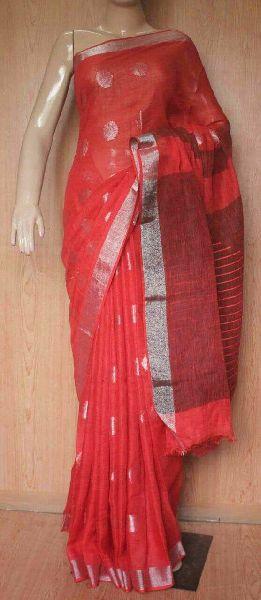 Jamdani Linen Saree 09