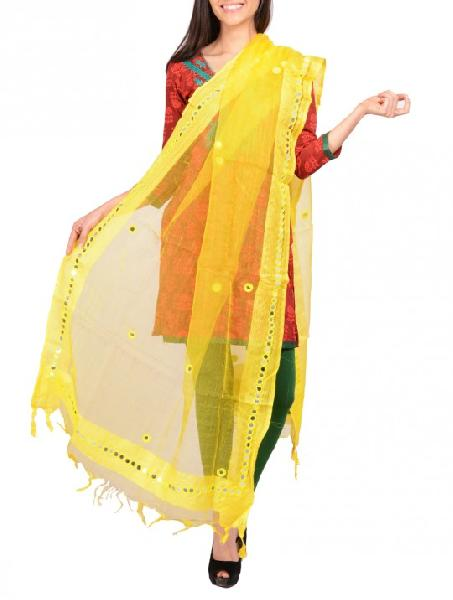 Mirror Work Silk Dupatta 01