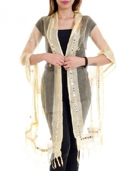 Mirror Work Silk Dupatta 02