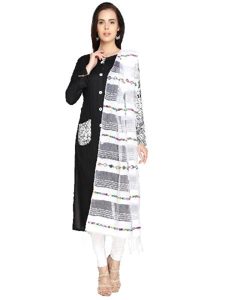 Mirror Work Silk Dupatta 05