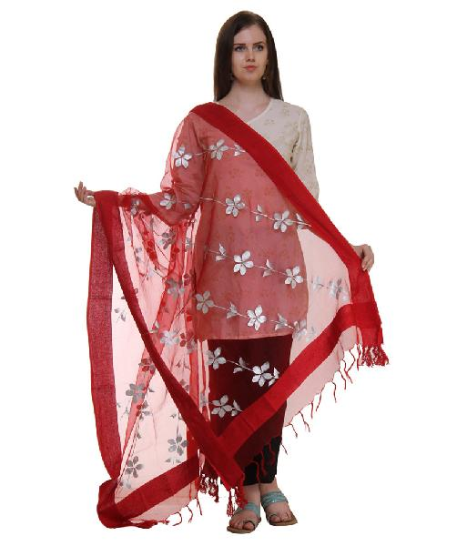Mirror Work Silk Dupatta 21