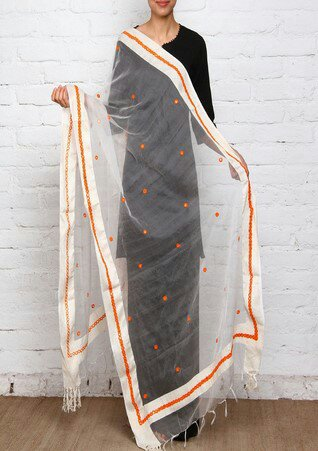 Mirror Work Silk Dupatta 22