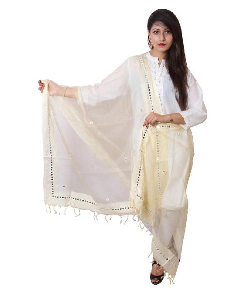 Mirror Work Silk Dupatta 23