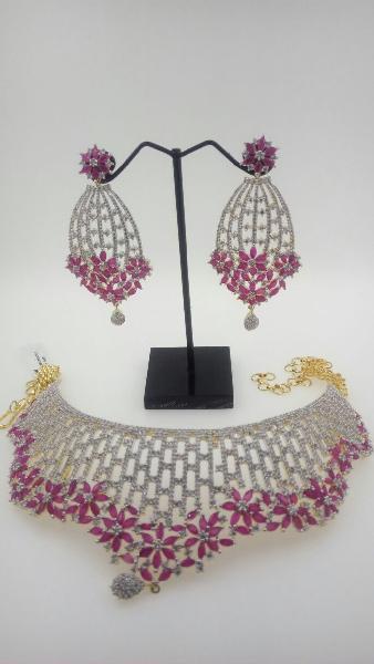 CZ Bridal Necklace Set 02