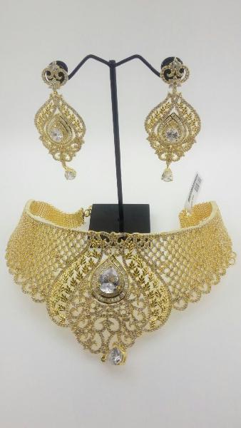 CZ Bridal Necklace Set 03
