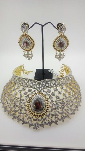 CZ Bridal Necklace Set 04