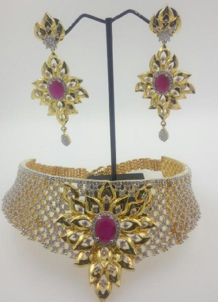 CZ Bridal Necklace Set 05