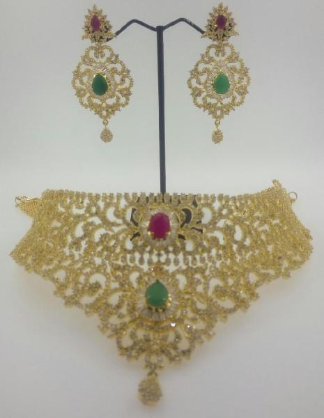 CZ Bridal Necklace Set 06