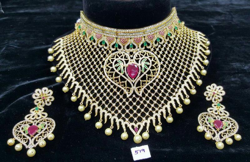 CZ Bridal Necklace Set 08