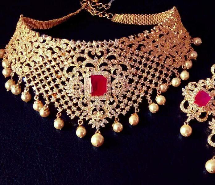 CZ Bridal Necklace Set 09