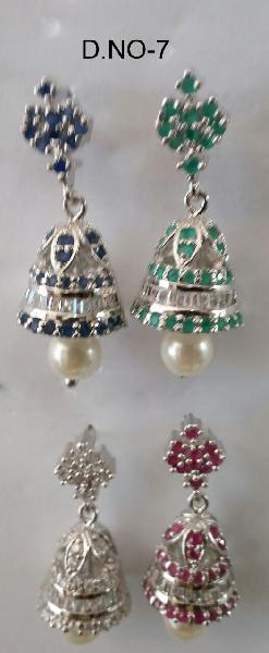 CZ Jhumka Earring 07