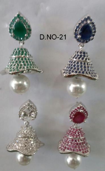 CZ Jhumka Earring 21