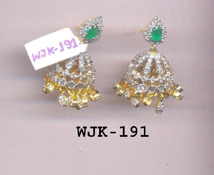 CZ Jhumka Earring (WJK-191)