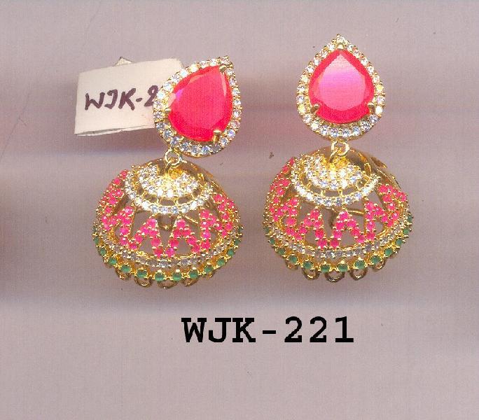 CZ Jhumka Earring (WJK-221)