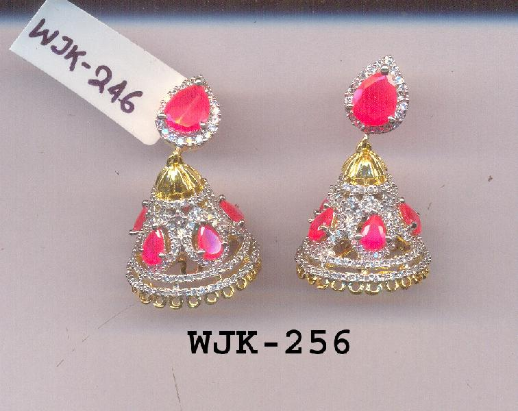 CZ Jhumka Earring (WJK-256)