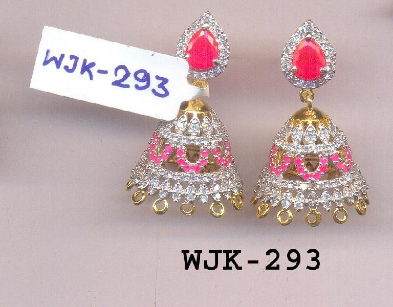 CZ Jhumka Earring (WJK-293)