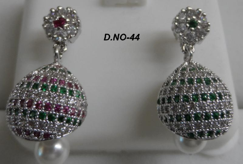 CZ Jhumka Earrings