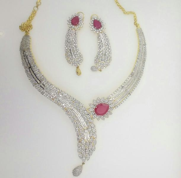 CZ Necklace Set 05