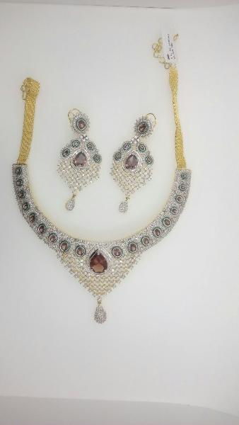 CZ Necklace Set 07