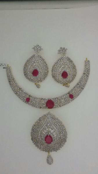 CZ Necklace Set 08