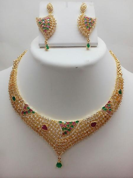 Gold Necklace Set 02