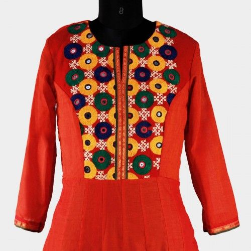 Kutch Work Cotton Kurti 01