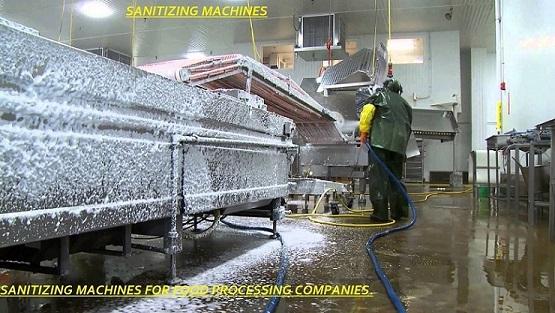 Food Processing Sanitizer Machine