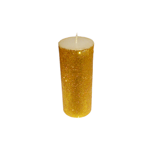 B Glitter Decorative Candles