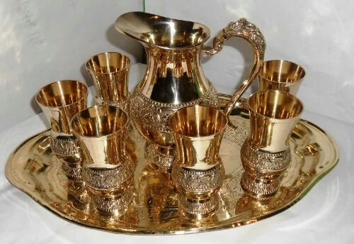 Gold Plated Jug & Glass Set