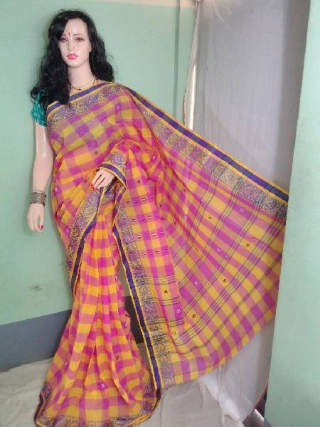 Cotton Handloom Tant Saree 01