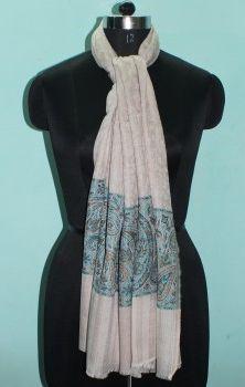 Designer Wool Silk Stole 02