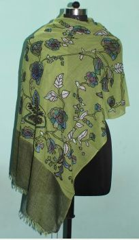 Embroidered Wool Shawl 01