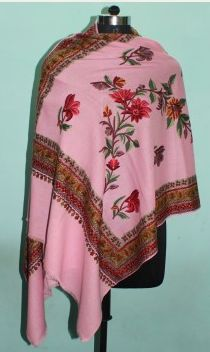 Embroidered Wool Shawl 02