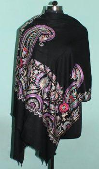 Printed Wool Silk Shawl 01