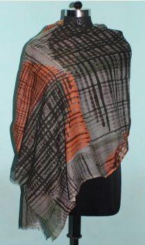 Printed Wool Silk Shawl 02
