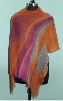 Printed Wool Silk Shawl 03