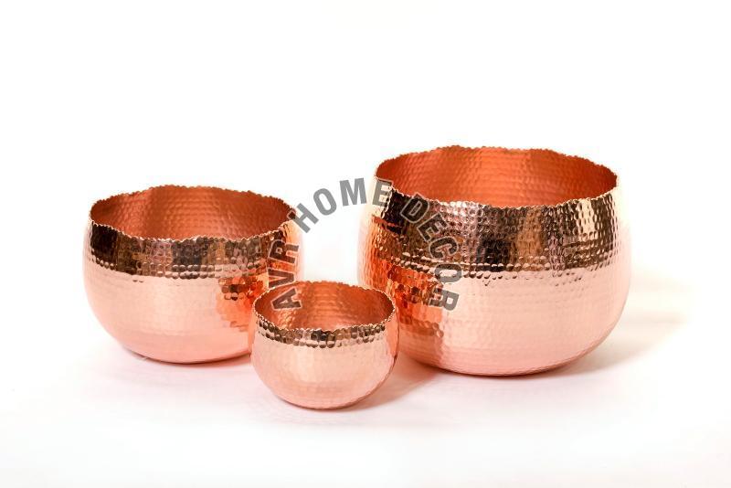 Copper Hammered Bowls