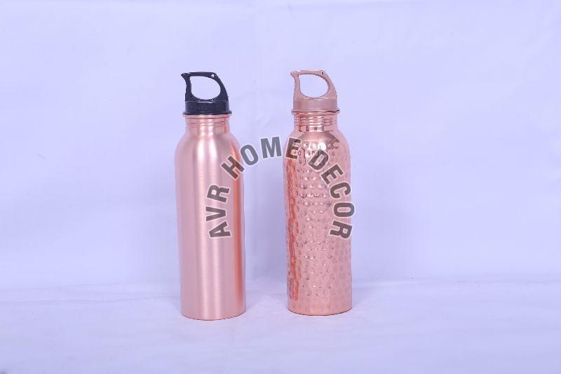 750 ml Plastic Lid Copper Water Bottles