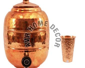 Copper Water Tank With Tap