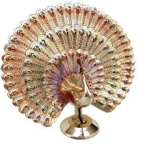 Brass Artistic Golden Peacock