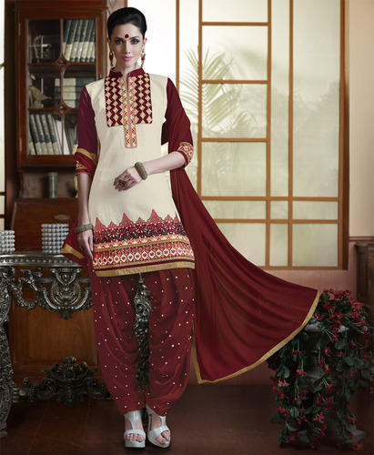 Embroidered Patiala Salwar Suit 01