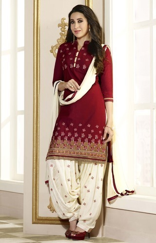 Embroidered Patiala Salwar Suit 02
