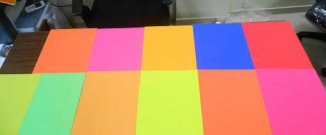 Fluorescent Color Coated Paper