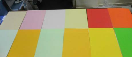 Non Neon Color Coated Paper