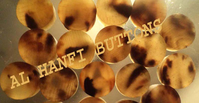 Ox Horn Blank Button 04